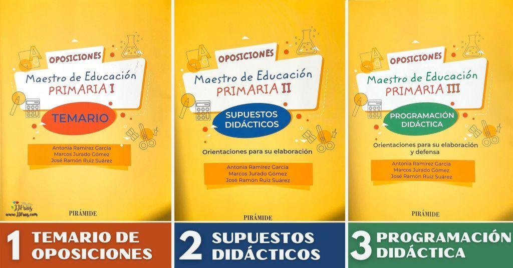 Libros para preparar las oposiciones a educación primaria.
