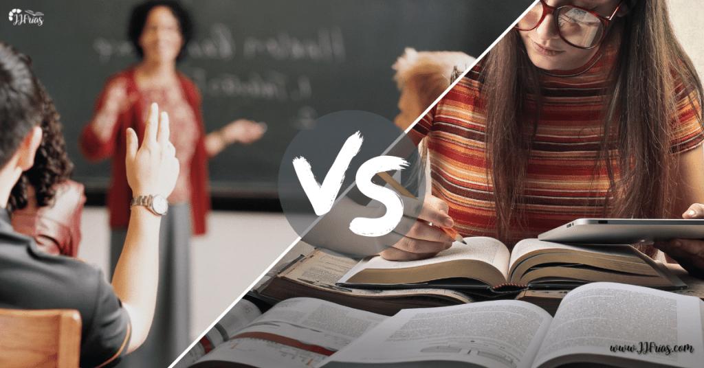 Prepara oposiciones en academia o en solitario. Una clase vs una estudiante.